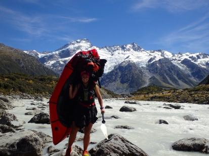 Packrafting and hiking Rangitata to MtCook