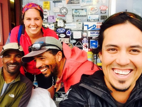 An Indian, a Kiwi, an African American, and a Mexican (NOLS!)